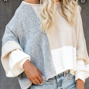 Vici city view color block sweater